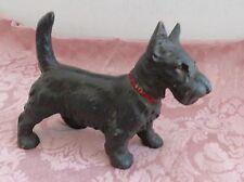 ORIGINAL HUBLEY STANDING CAST IRON BLACK SCOTTIE DOG ART STATUE DOORSTOP