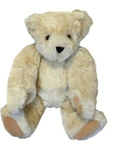 """Vermont Teddy Bear Tan Maple Fully Jointed 15"""" Brown Eyes"""