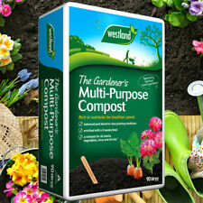 More details for westland 80l multi purpose compost garden plant hanging basket planter soil