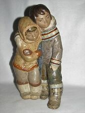 Couple From The Arctic Lladro Gres Eskimo #2038 - Third Mark - Mint