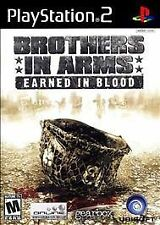 Brothers in Arms Earned in Blood - PlayStation 2 PS2 video game *COMPLETE*