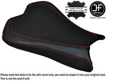 CARBON GRIP RED DS ST CUSTOM FITS KAWASAKI ZX6R 636 09-15 FRONT SEAT COVER