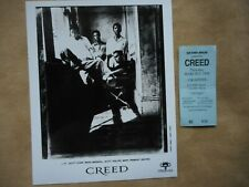 "Creed Concert Ticket Pittsburgh 3/5/98 W/ 8"" X 10"" Glossie Of The Band"