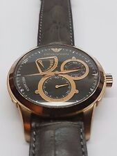 Emporio Armani Men's AR4619 Automatic Watch - Brown Dial & Brown Leather Strap