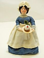 GLADYS BOALT Christmas Carol MRS CRATCHET w/ pudding Ornament  - Signed 1986