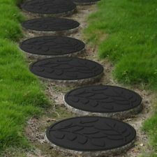 More details for leaf rubber garden stepping stones eco-friendly durable stomping stone mats