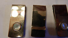 5  PIECES VINTAGE GENUINE MOTHER OF PEARL GOLD PLATED  MONEY CLIP  WHOLESALE