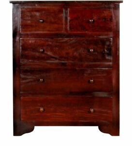 VINTAGE STYLE HANDMADE WOODEN CHEST OF DRAWERS - FURNITURE
