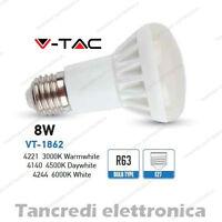 Lampadina led V-TAC 8W = 45W E27 VT-1862 R63 faretto spot bulb reflector lampada