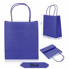 Party Gift Coloured Paper Bags With Handles Wedding Birthday Christmas Shopping Blue 20
