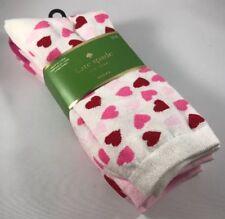 Kate Spade New York Cute Hearts 3 Pairs Crew Dress Socks