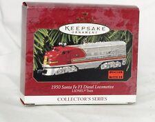 1997 Hallmark Diecast 1950 Santa FE F3 Diesel Locomotive Lionel Train 2 Ornament