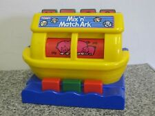 TOMY MIX 'n' MATCH ARK SPINNING REEL POP UP ANIMAL MATCHING ACTIVITY TOY VINTAGE