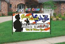U.S. Air Force Going Away Banner - Good Luck Banner 13oz woven mesh vinyl banner