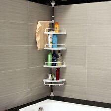 New 4 Tier Corner Shelf Shelf Organiser Kitchen Bathroom Toilet Storage Shower
