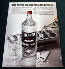 """1980 Finlandia print ad Vodka of Finland 10""""x13"""""""