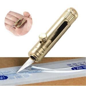 Mini Brass Pocket Knife Folding Portable Opener Keychain Pendant Blade Tool US