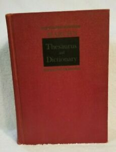 March's Thesaurus & Dictionary English Language Francis Andrew Jr 1902 1958 1968