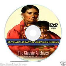 American Indian Library, 413 Books, Cherokee, Aztec, Apache, Maya, PDF DVD E69