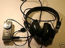 VERY RARE SANYO STEREOCAST HEADPHONES RB 9191 With Adaptor-Amplifier