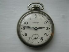 Vintage Bull's Eye Pocket Watch Made in the Usa