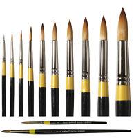 Daler Rowney System 3 Artist Acrylic Paint Brush - Long & Short Handle ROUND