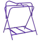 Tough-1 Folding Floor Saddle Rack w/Web Bottom Purple Pack Of 2 U-10-0