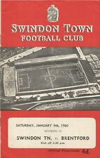 Swindon Town v Brentford, 9 January 1960, Division 3
