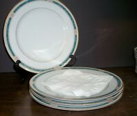 "LOT OF 4 GORHAM REGALIA COURT TEAL DINNER PLATES 11""   FREE US SHIPPING"