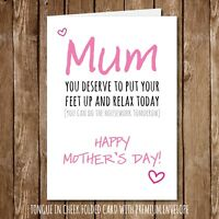 Put Your Feet Up Mum Funny Mothers Day Card