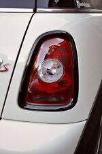 MINI R56 Rear Tail Light Covers Black Gloss 2006 - 2013 Cooper S JCW R57 R58 R59