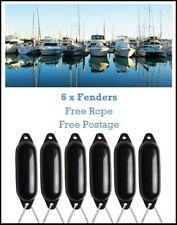 4 X MAJONI WHITE BOAT FENDERS SIZE 3 DEFLATED FREE ROPE