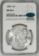 1888 MORGAN SILVER DOLLAR ** NGC MS66 + PLUS ** CAC ** $1475 VALUE