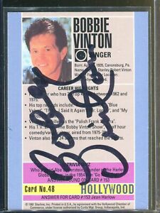 Bobby Vinton Singer Signed Hollywood Walk of Fame Card Authentic Autograph *2
