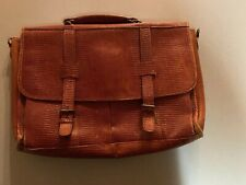 Vintage Brown Leather Light Brown Attache Business Bag Cool