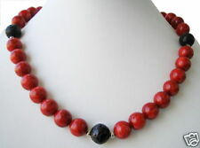 Designed Coral Chain with Lava in ball shape D-14mm