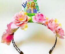 NEW! Disney Channel Liv & Maddie D-Signed Flower Pink Rose Head Band Headband Pc