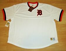 Mitchell & Ness Detroit Tigers Home B.P. Mesh Baseball Jersey size Men's XL