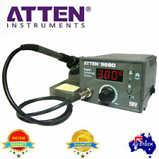 ATTEN SOLDERING IRON STATION AT969D LEAD FREE 5 Tips ESD SAFE Heating 60W OZ