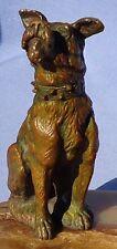 Antique Bronze Schnauzer Fox Terrier Dog France Merite