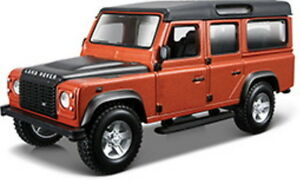 Land Rover Defender 110, Cuivre Métallique, Bburago Rue Fire 1:3 2 , Neuf, Ovp