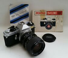 Vtg Pentax ME Super 35mm SLR Film Camera Zeiss Jena Zoom 35-70mm Lens + Manuals