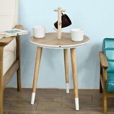 SoBuy® Table café Design avec support à Tasses Table d'appoint Ronde,FBT38-WN FR