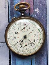 Reloj Cronógrafo 1920s De Bolsillo Antiguo reparación de movimiento Valjoux 5 KVM