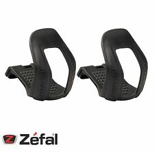 Zefal Bicycle Half Toe-Clips 45 Black Strapless In S/M Mountain Bike
