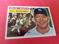 MICKEY MANTLE 2007 TOPPS 1956 REPRINT TARGET GAME USED MEMORABILIA CARD YANKEES