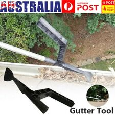 Gutter Roof Cleaning Tool Hook Shovel Scoop Leaves Dirt Remove Home Cleaner AU