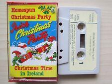IRISH CHRISTMAS PARTY CASSETTE, VARIOUS ARTISTS, 1976 HOMESPUN, TESTED.