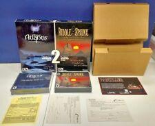 Beyond Atlantis II & Riddle The Sphinx PC Windows Video Game Box Set Mint Discs