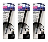 Maybelline Line Express Wood Pencil eyeliner #902 Soft Black (Pack of 3)